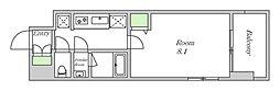 近鉄南大阪線 河堀口駅 徒歩7分の賃貸マンション 4階1Kの間取り