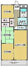 愛知県名古屋市中川区法華西町2の賃貸マンションの間取り