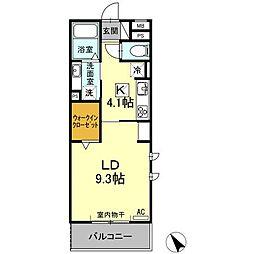 (仮)D−room刈谷市矢場町 B棟[301号室]の間取り