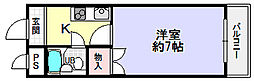大東御殿山ビル[4階]の間取り