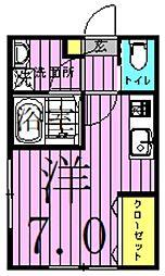 パークレジデンス六町 1階ワンルームの間取り