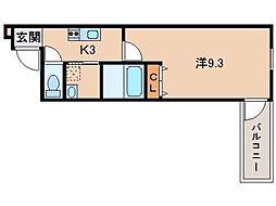 フジパレス 新通II番館[2階]の間取り