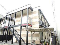 大阪府大阪市東住吉区湯里4丁目の賃貸アパートの外観