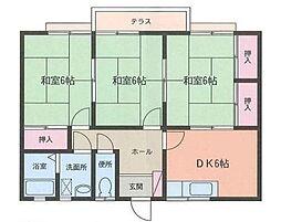 山上第3住宅[102号室]の間取り