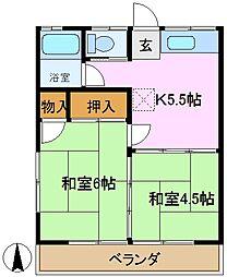 第1串田荘[2階]の間取り