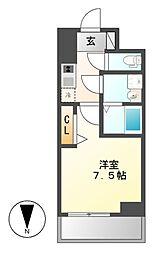 プレサンス桜通ザ・タイムズ[5階]の間取り