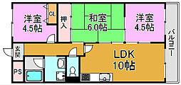 メゾンエトワール 川俣本町 高井田15分[2階]の間取り