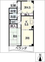 ラ・メール21[4階]の間取り