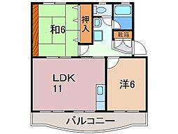 静岡県御殿場市川島田の賃貸マンションの間取り