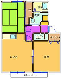 サンガーデンIWAI[D102号室]の間取り