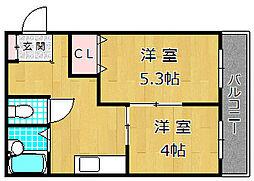 M'PLAZA津田駅前七番館[4階]の間取り