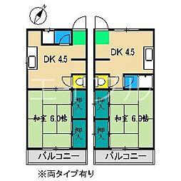 ボンジュール宗円[5階]の間取り