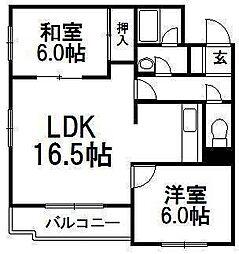メゾン恵和伏見[4階]の間取り
