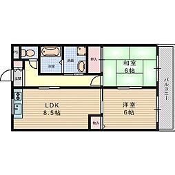 グリーンメモリアパートII[2階]の間取り