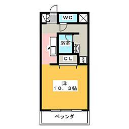 エルブ入船[4階]の間取り