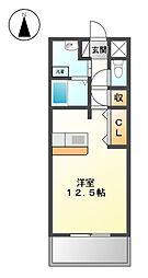 プチメゾン稲生[3階]の間取り