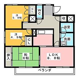 ガーデンハウス御器所[4階]の間取り