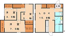 [一戸建] 福岡県福岡市東区三苫1丁目 の賃貸【/】の間取り