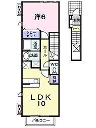 アルモニーSI[2階]の間取り