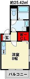 JR鹿児島本線 戸畑駅 徒歩30分の賃貸アパート 1階1Kの間取り