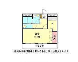 愛知県小牧市下小針中島3丁目の賃貸アパートの間取り