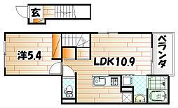 エクスクルーシブIV[2階]の間取り