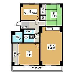コンフォート桂木[1階]の間取り