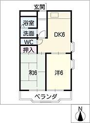 イイダマチハウス[5階]の間取り