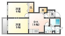 ビレッジコートⅢ[1階]の間取り