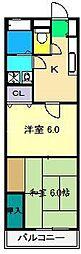 吉川マンション[4階]の間取り