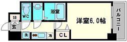 レオンコンフォート京橋イースト 6階1Kの間取り