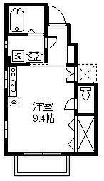 東京都府中市白糸台2丁目の賃貸アパートの間取り