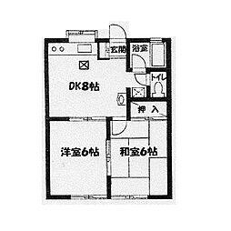 ハイムアーク[2階]の間取り