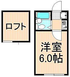ネストリバーサイドKITAGAWA[203号室]の間取り