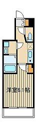 西武池袋線 桜台駅 徒歩3分の賃貸マンション 3階1Kの間取り