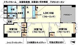 ロイヤルメゾン上野西[2階]の間取り
