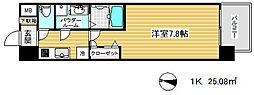 エスリード神戸三宮ノースゲート[14階]の間取り