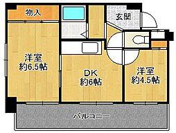 ビスタ千早宝塚[3階]の間取り