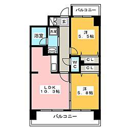 キルンズ博多駅南[12階]の間取り