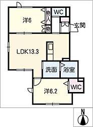 FLAT HILL[1階]の間取り