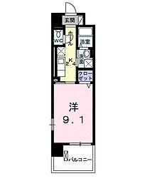 兵庫県尼崎市神田北通4丁目の賃貸マンションの間取り