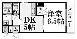 アバンシオ香櫨園[1階]の間取り