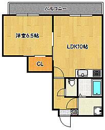 兵庫県神戸市兵庫区大井通2丁目の賃貸マンションの間取り