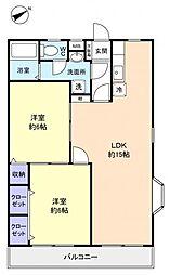 フィールドコート澤田II[2階]の間取り