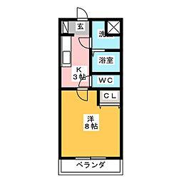 グローリーノーブル[4階]の間取り