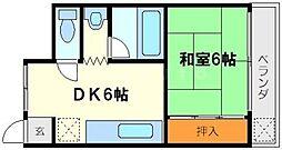メゾンアンユイ[2階]の間取り
