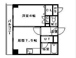 コスモス東札幌[502号室]の間取り
