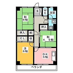 コーポ和幸苑[1階]の間取り