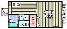 グリーンプラザ市場2[110号室]の間取り