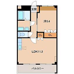 ノース・タツノ[1階]の間取り